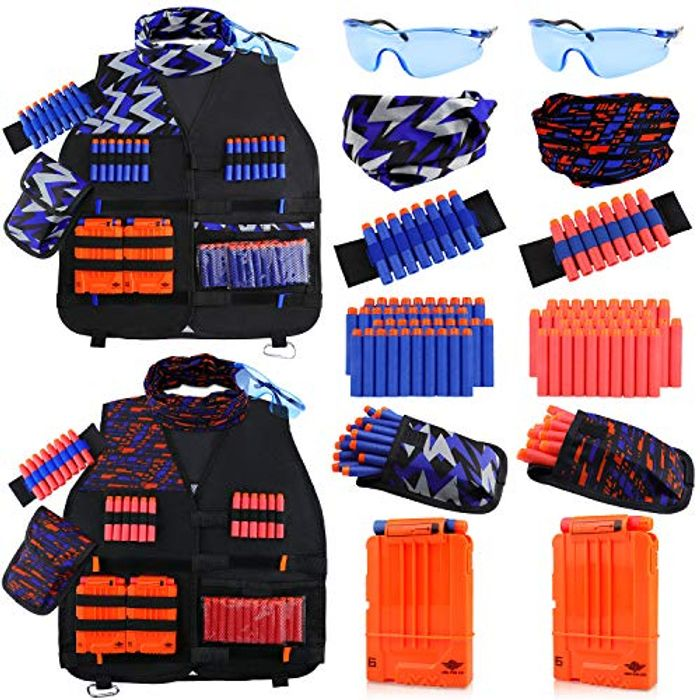 50% Off 2 Pack Kids Vests with Nerf Bullets & Free Delivery