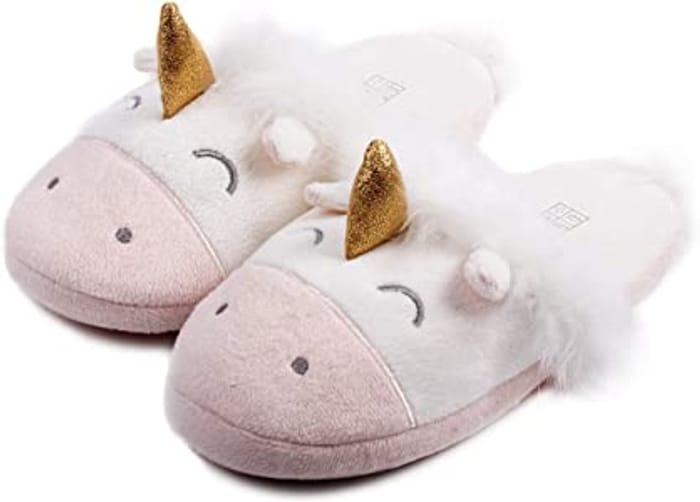Unicorn Plush Memory Foam Anti Slip Slippers