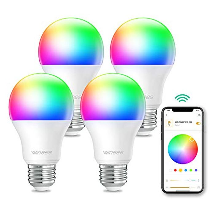 4 Pack LED Colour Changing Light Bulbs