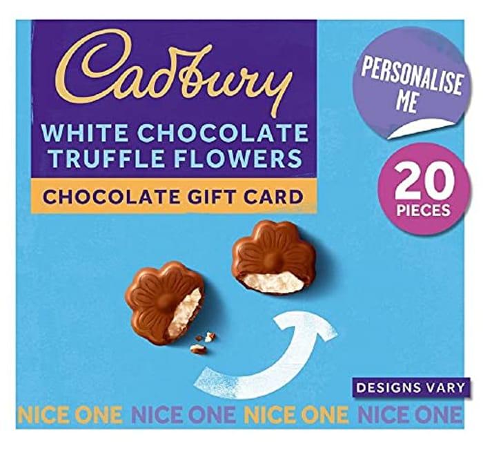 Cadbury White Chocolate Truffle Flowers Chocolate Gift Card
