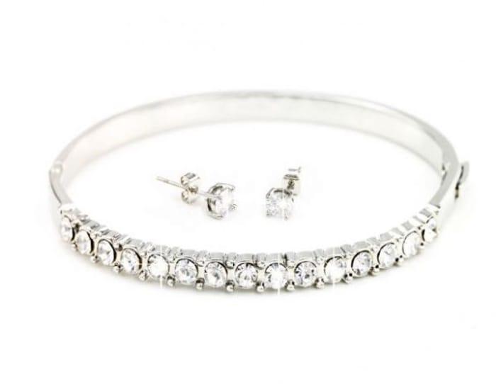 Swarovski Crystal Bracelet & Earings *Just Pay P&P