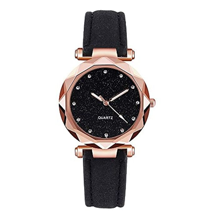 Women Ladies Starry Sky Wrist Watch,Sbyhbhyds PU Leather - Only £4!