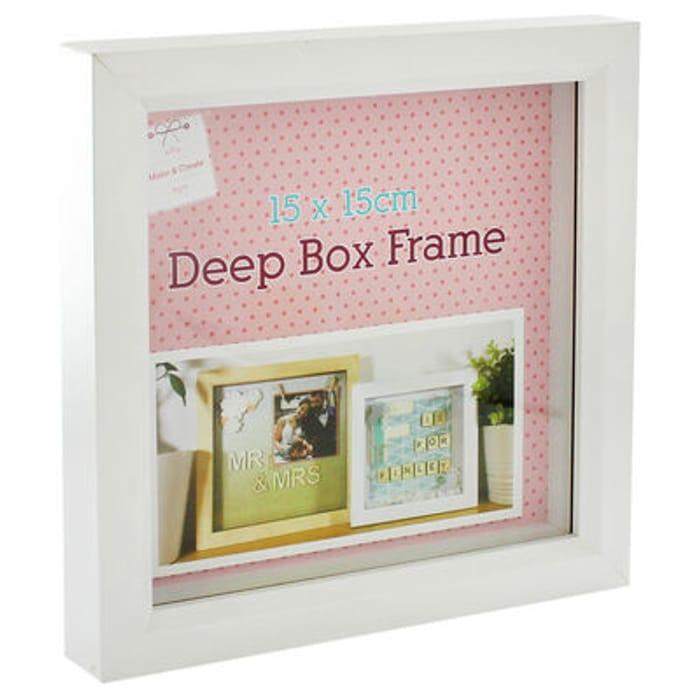 White Deep Box Frame - 15cm X 15cm