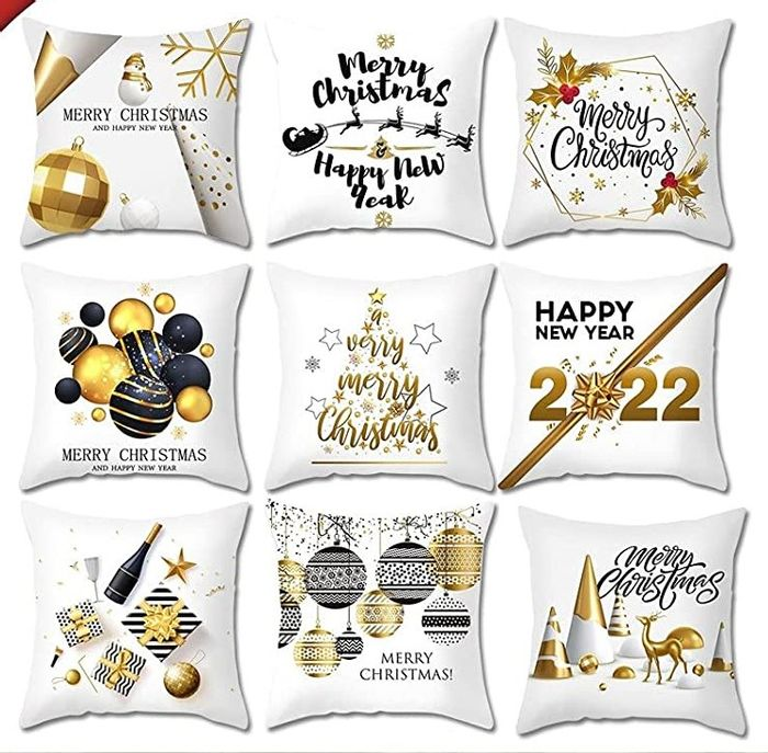 Christmas Cushion Cover, 45 Cm X 45 (17 Designs to Choose From)