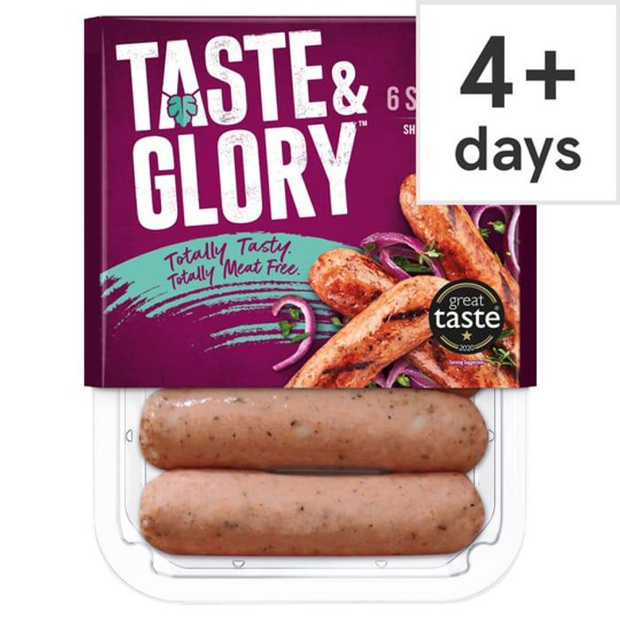 Taste & Glory Vegan Sausages 6 Pack 240G £1.50 Clubcard Price