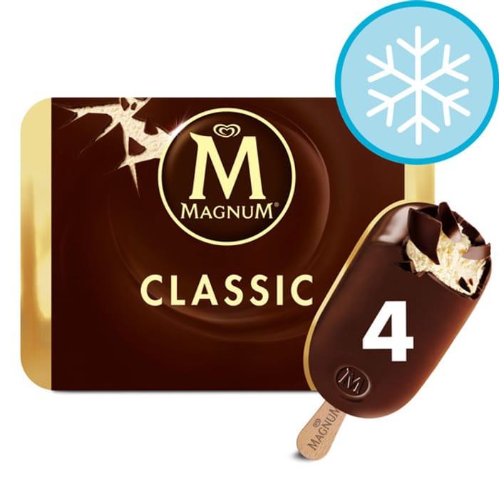 Magnum Classic Ice Cream 4 X 110Ml £2.50 Clubcard Price