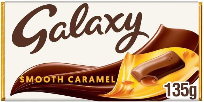 Galaxy Smooth Caramel Chocolate Bar for Sharing, 135g