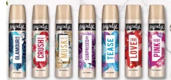 Buy 1 Get 1 Free on Selected Impulse Body spray,Deodorants 75ml/150ml £1.99 ,£3