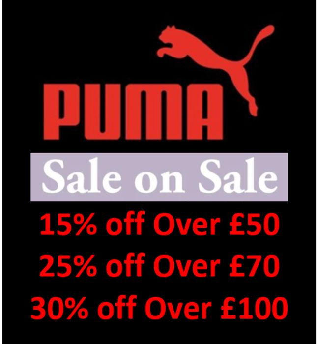 PUMA - Sale on Sale - up to 70% off + EXTRA 15% / 25% / 30% / OFF