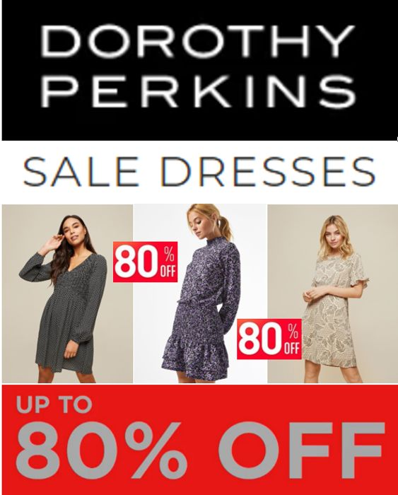 CHEAP! DOROTHY PERKINS - SALE DRESSES - up to 80% off - Prices from £4.80!