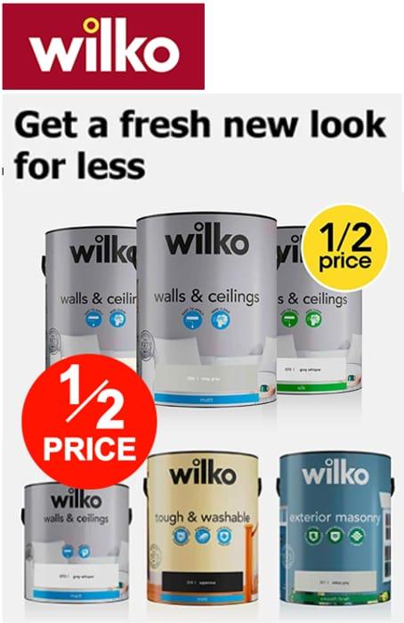 WILKO PAINT - Half Price Offers!