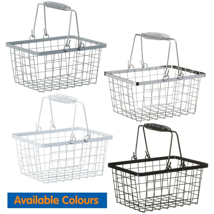 Shopping Storage Basket - 4 Different Colour Choices