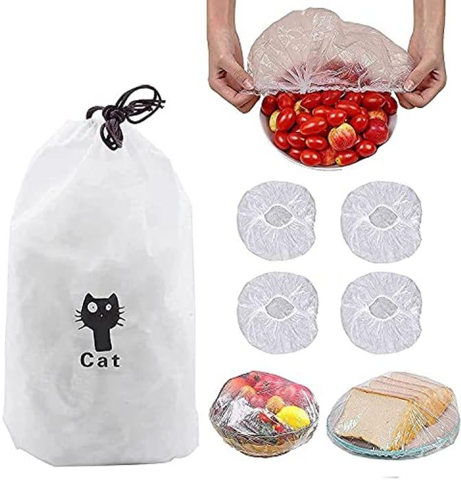 100pcs Reusable Elastic Food Storage Covers