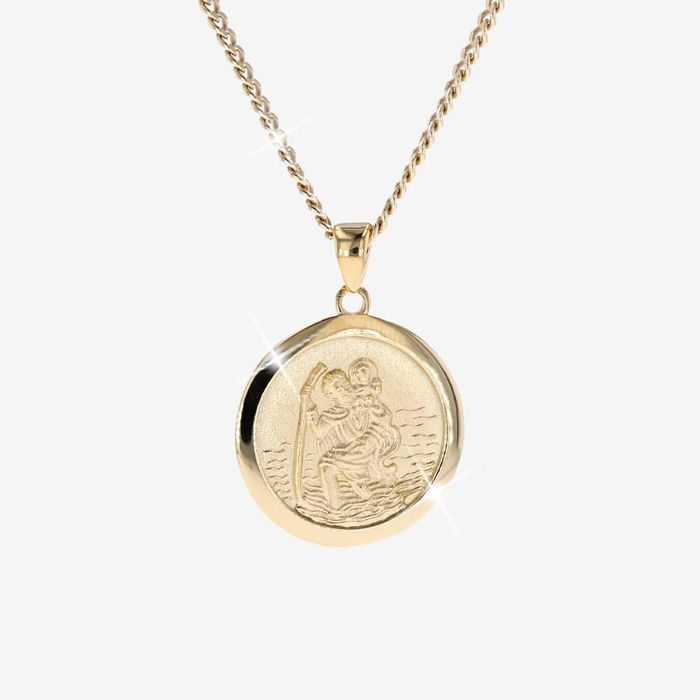 18ct Gold Vermeil on Silver St. Christopher Necklace