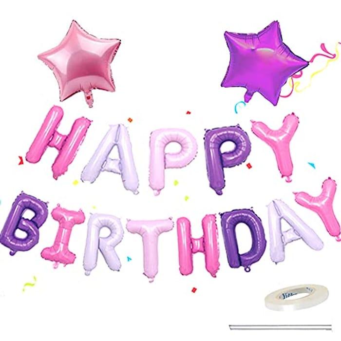 "13pcs 16 Inch ""HAPPY BIRTHDAY"" Balloons Banner Set"