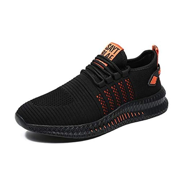 FUJEAK Men Running Shoes Men Casual Breathable Walking - Only £10.99!