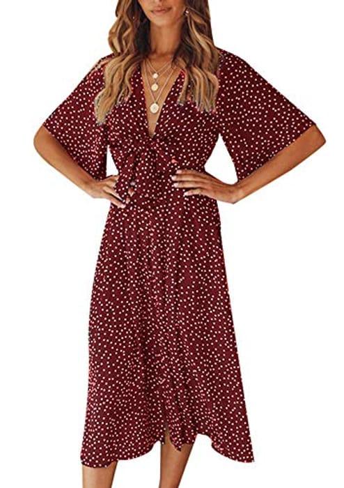 Summer Boho Polka Dot Dress