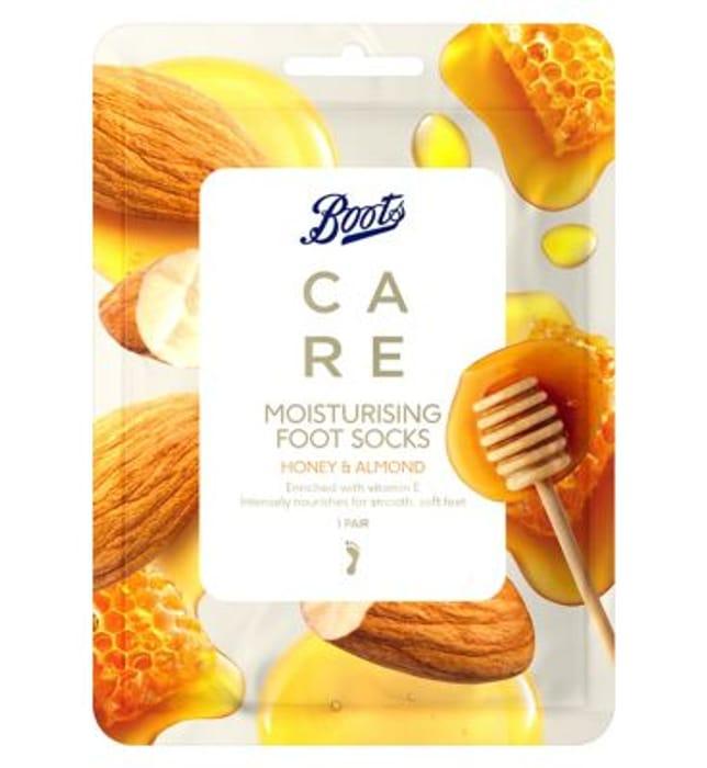 Boots CARE Moisturising Foot Socks Honey & Almond - 1 Pair