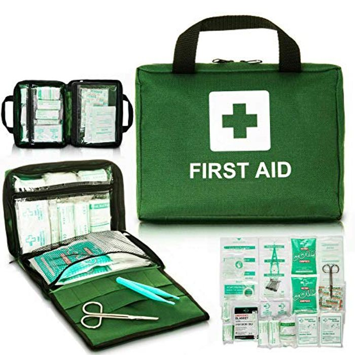 Walgreen 90 Piece First Aid Kit Bag Medical Emergency Kit with £5 off Coupon