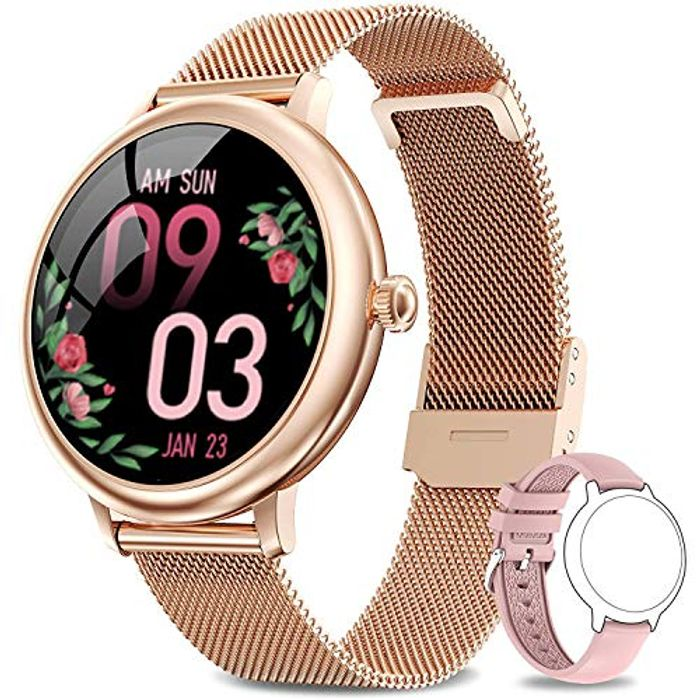 DEAL STACK - LIEBIG Smart Watch for Women, Full Touch Fitness + 10% Coupon