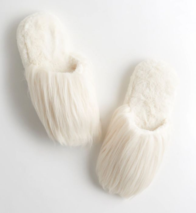 Gilly Hicks Faux-Fur Slippers