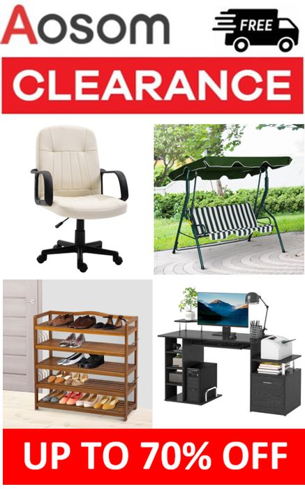 AOSOM - HOME & GARDEN CLEARANCE - up to 70% OFF + FREE DELIVERY
