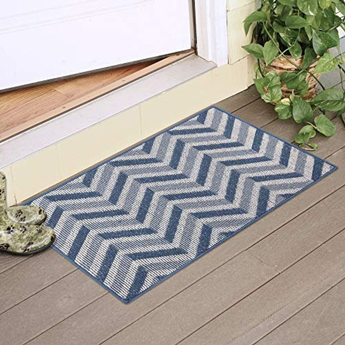 DEAL STACK - Entrance Resist Dirt Rug with Rubber Backing Non Slip + 30% Coupon