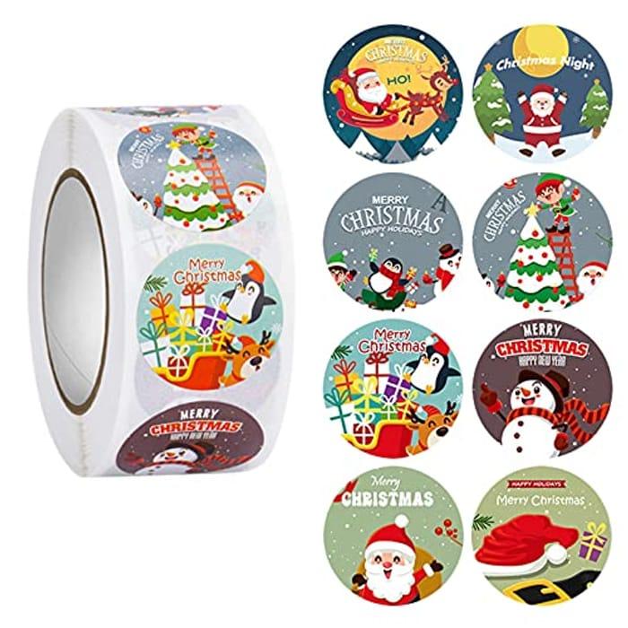 500pcs Christmas Stickers - (Various Designs)