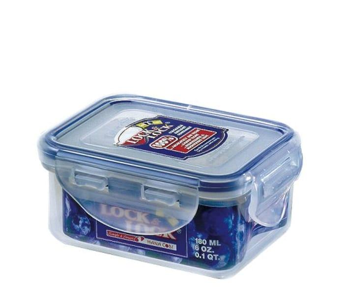 Lock & Lock HPL805 Stackable Airtight Container Rectangular 180ml, Plastic,