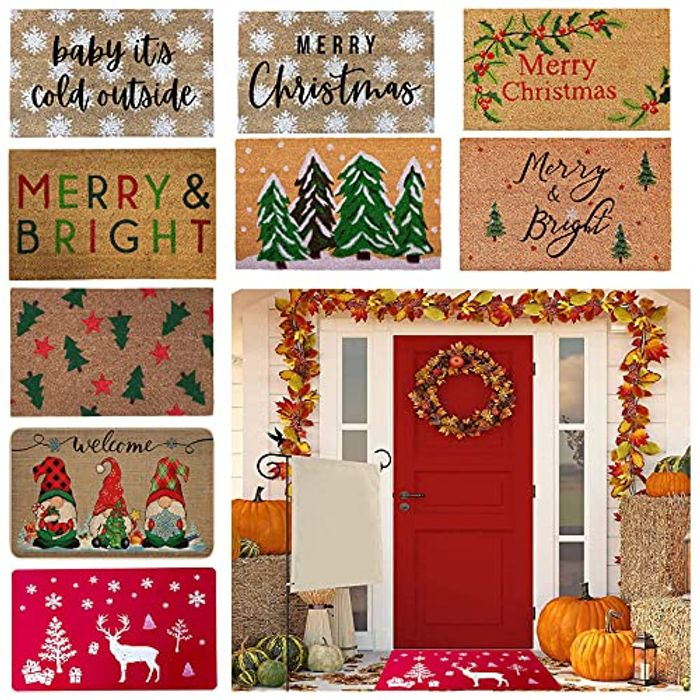 Cheap Christmas Decorations Doorstep Tapestry Carpet Rug - 70% Promotion