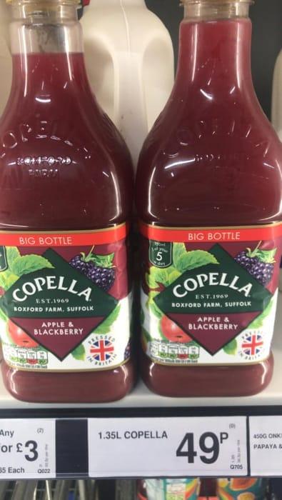 Copella Apple + Blackberry Juice - 1.35l Bottle