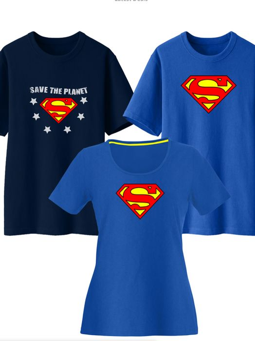 100% Official Licensed DC Comics Superman & Supergirl T-Shirts Free Delivery