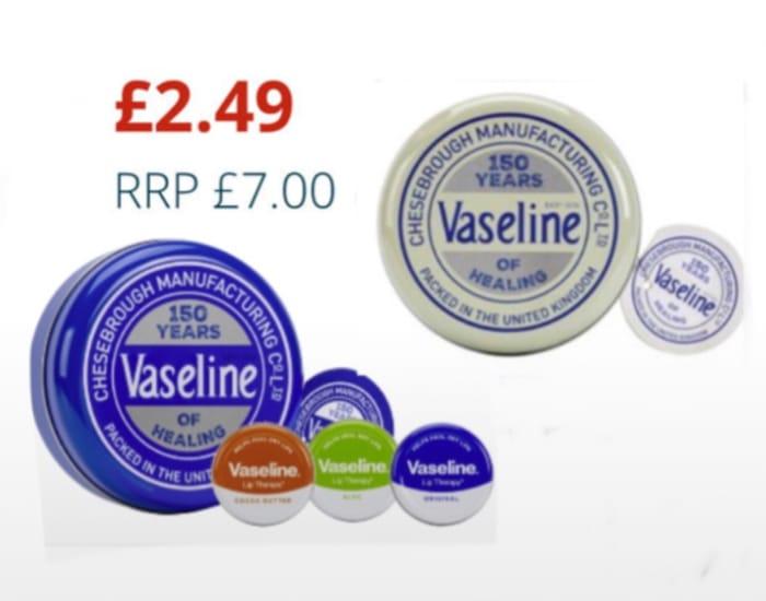 CHEAP! 3 Piece Vaseline White and Original Selection Lip Balm Tin Each Set £2.49