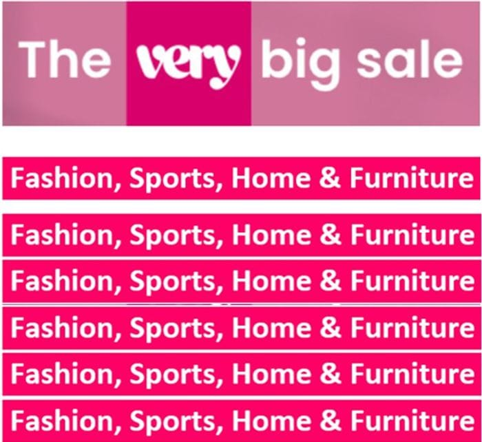 Very Big Sale....On Now!