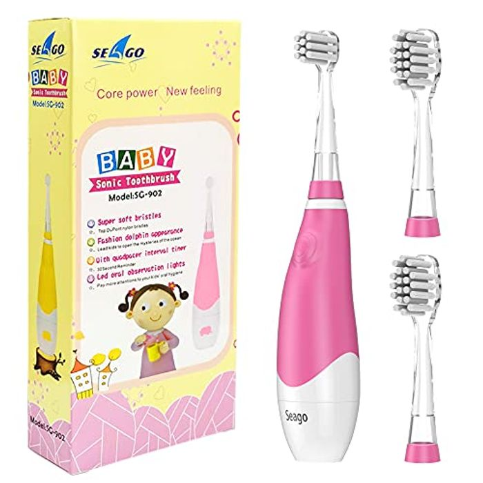 DEAL STACK - Seago Baby Sonic Toothbrush with Funny Led Light & Timer + Code