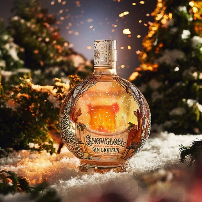 Snow Globe Orange & Gingerbread Gin Liqueur, 70cl (Shipping Inc)