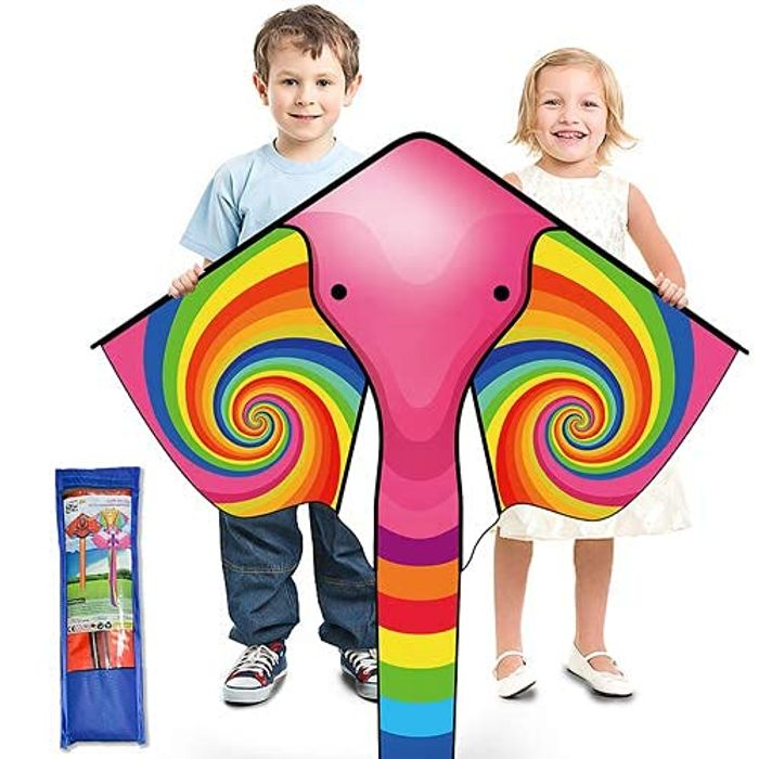 DEAL STACK - Ynybusi Huge Elephant Kite with Long Tail & Kite String + 5% Coupon