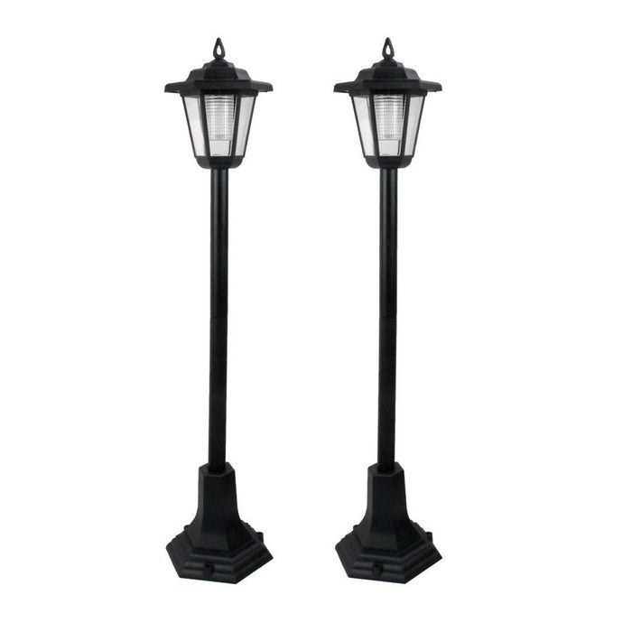 Set of 2 Solar Lamp Posts FREE UK DELIVERY