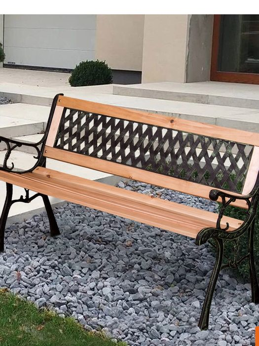 Metal 2 or 3 Seater Garden Bench Blenheim  Free Delivery