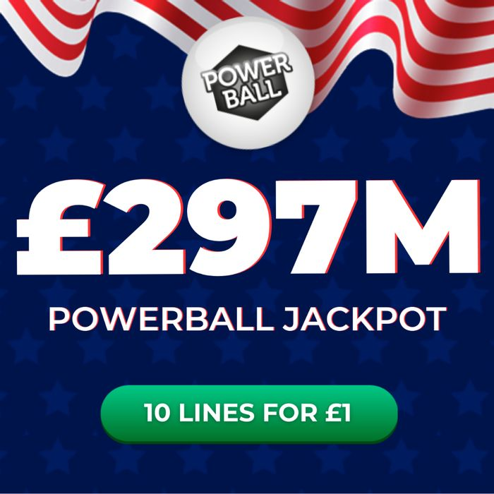Powerball - £297,000,000 Jackpot This Sunday -10 Lines Just £1 At Lottosocial