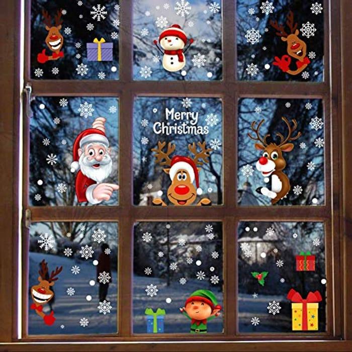 Christmas Window Stickers 160 Pieces