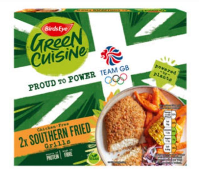 Birds Eye 2 Green Cuisine Chicken-Free Crispy Grills 170g / Southern Fried