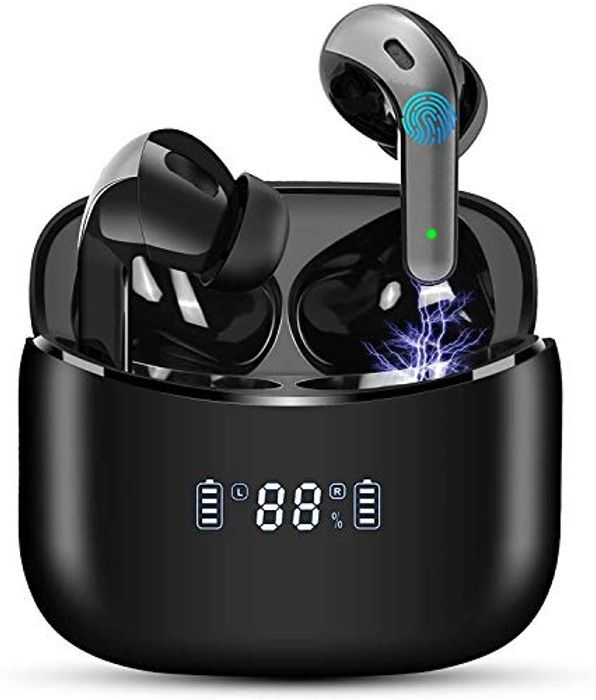 Wireless Earbuds Earphones Bluetooth 5.0 LED Display - Only £12.49!