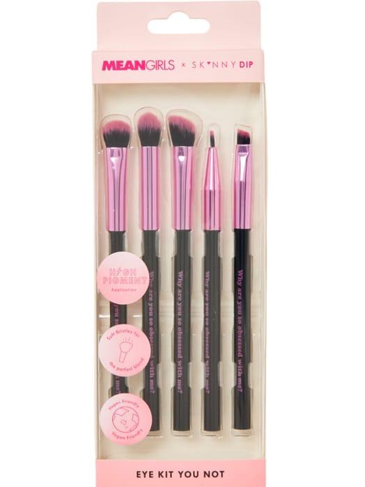 SKINNY DIP Five Piece Pink Mean Girls Eye Brush Kit