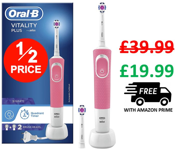 Oral-B Vitality Plus Electric Toothbrush (3 Colours)