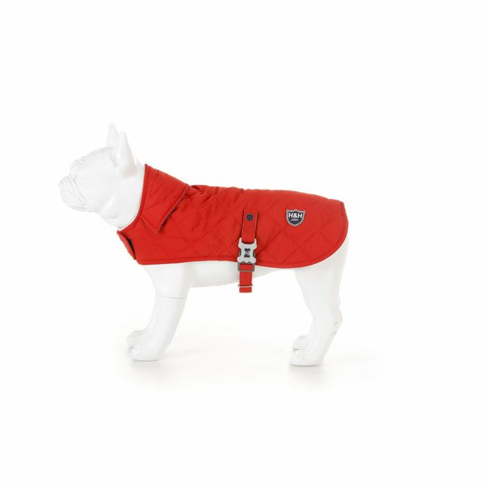 Medium Red Quilted Dog Jacket with free delivery