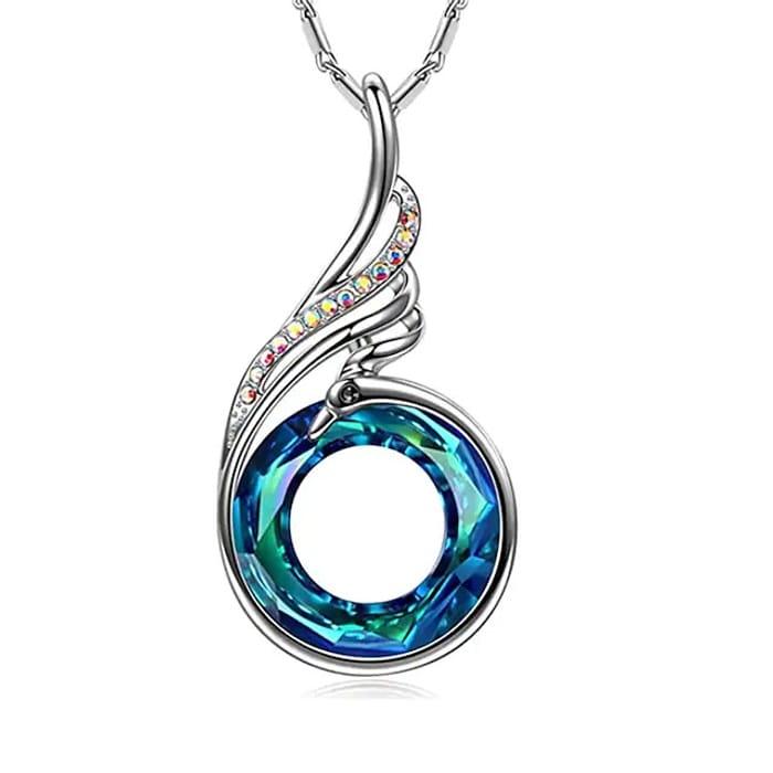 Nirvana of Phoenix Pendant Crystal Necklace
