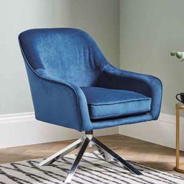 Kirkton House Blue Accent Chair Warranty Period 12 Months
