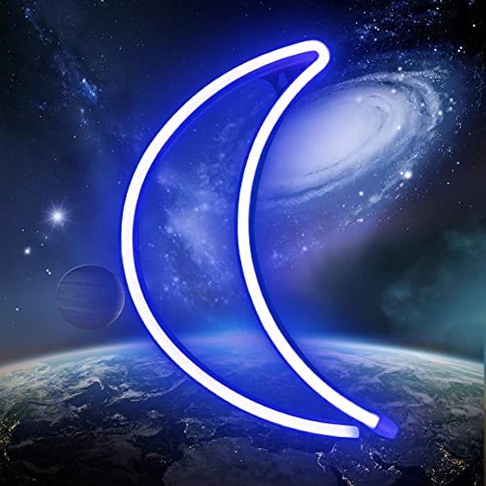 XIYUNTE Neon Moon Light - USB/Battery Operated