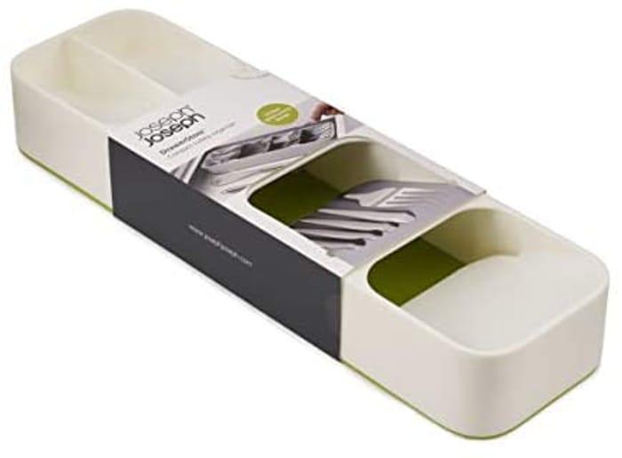 Joseph Joseph 85141 DrawerStore Compact Cutlery Organiser Tray - White